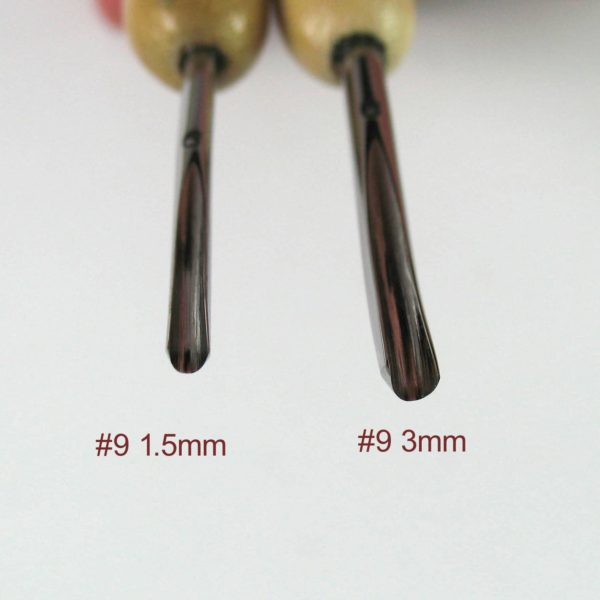 Comparison of Drake #9 1.5mm and 3mm gouges