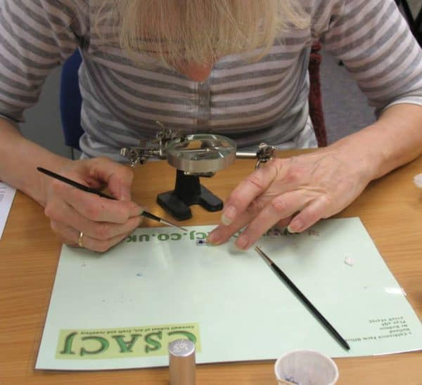 Enamelling on metal clay class