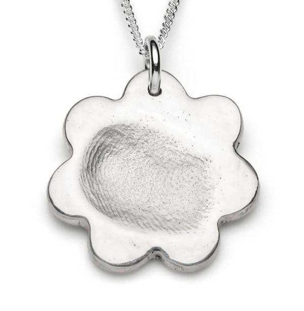 Fingerprint jewellery flower