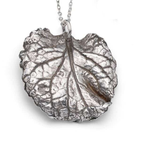 Metal clay leaf