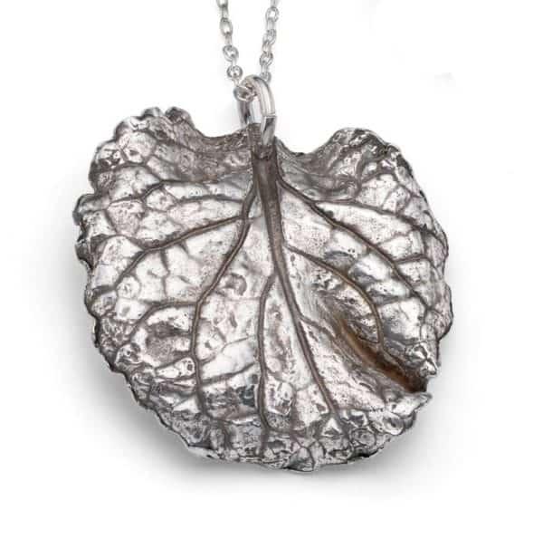 Metal clay leaf