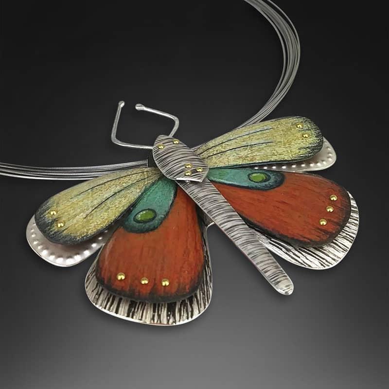 Deb Karash Moth Pendant