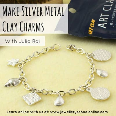 Silver metal clay charms course with Julia Rai online