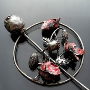 Silver and Metal Clay Fibula Brooch with Iwona Tamborska