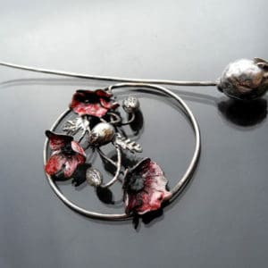 Silver and Metal Clay Fibula Brooch with Iwona Tamborska