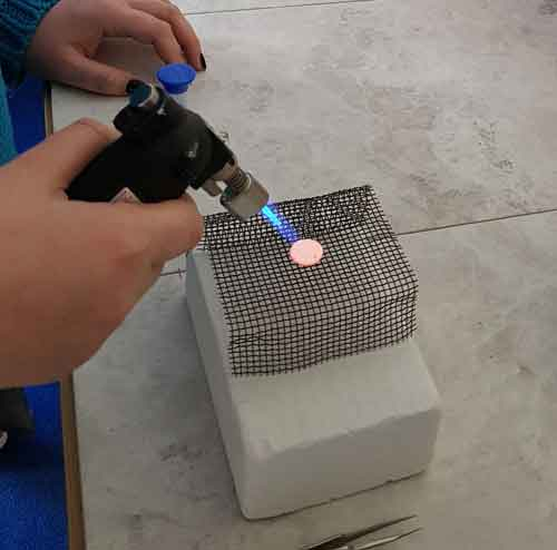 Fine silver metal clay is easy to fire with a butane torch