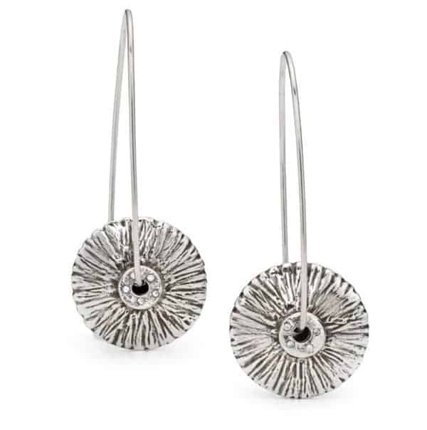 Advanced metal clay lentil bead earrings