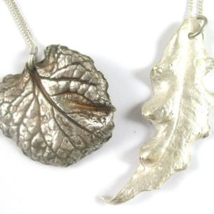 Silver clay leaves