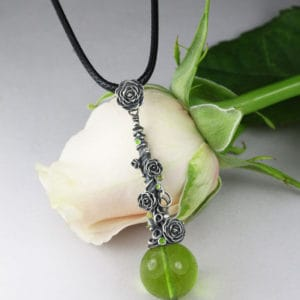 Climbing rose pendant with Anna Mazon