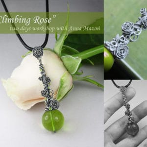 Climbing rose pendant with Anna Mazon