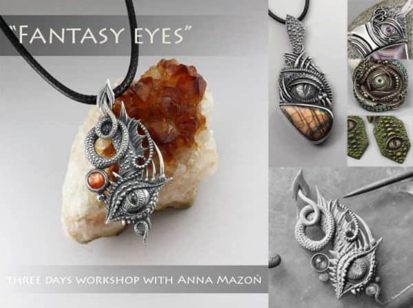 Fantasy eye pendant with Anna Mazon