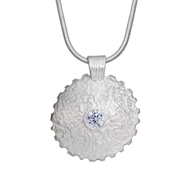 Lentil bead pendant with Julia Rai