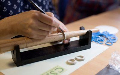 Ring making in progress